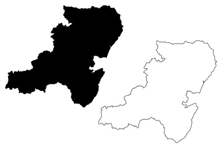 Aberdeenshire (United Kingdom, Scotland, Local government in Scotland) map vector illustration, scribble sketch Aberdeenshire map