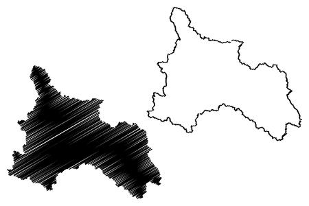 Son La Province (Socialist Republic of Vietnam, Subdivisions of Vietnam) map vector illustration, scribble sketch Tinh Son La map