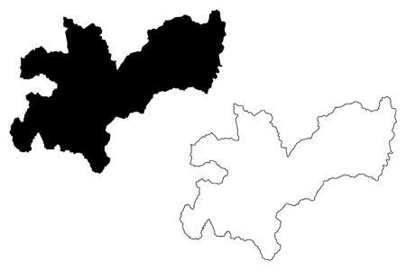 Caldas Department (Colombia, Republic of Colombia, Departments of Colombia) map vector illustration, scribble sketch Department of Caldas map Foto de archivo - 117117108