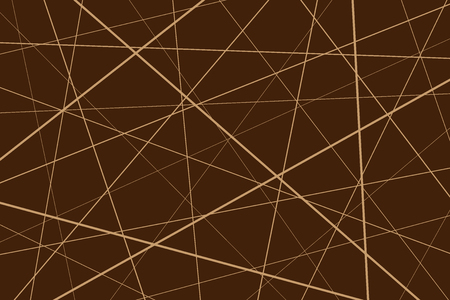 Random chaotic lines abstract geometric pattern, Brown geometric pattern