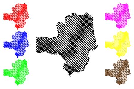 Zamfara State (Subdivisions of Nigeria, Federated state of Nigeria) map vector illustration, scribble sketch Zamfara map