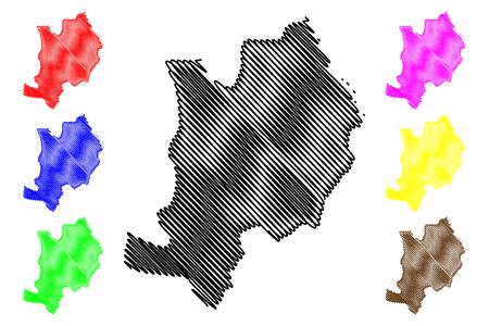 Ebonyi State (Subdivisions of Nigeria, Federated state of Nigeria) map vector illustration, scribble sketch Ebonyi map Ilustração