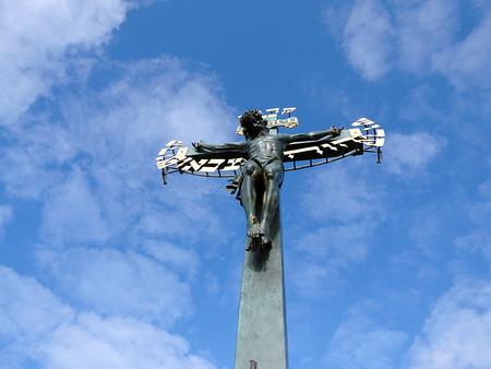 Jesus Christ on the Cross, Prague, Czech Republic,