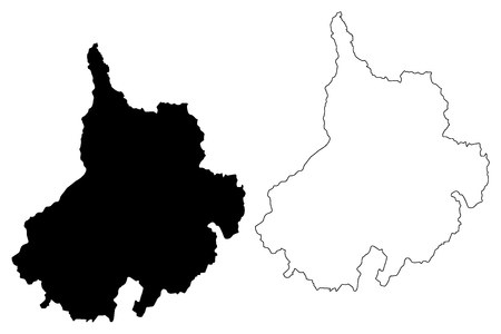 Santander Department (Colombia, Republic of Colombia, Departments of Colombia) map vector illustration, scribble sketch Department of Santander map
