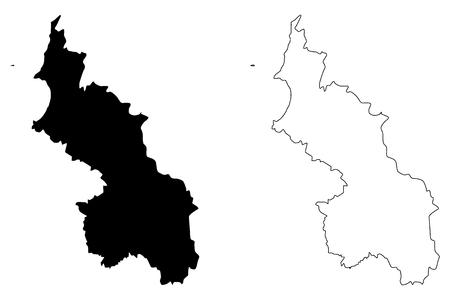 Sucre Department (Colombia, Republic of Colombia, Departments of Colombia) map vector illustration, scribble sketch Department of Sucre map Ilustração