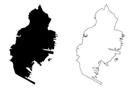 Jersey City (United States cities, United States of America, usa city) map vector illustration, scribble sketch City of Jersey City map