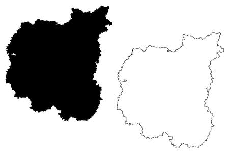 Chernihiv Oblast (Administrative divisions of Ukraine, Oblasts of Ukraine) map vector illustration, scribble sketch Chernihivshchyna map