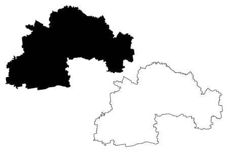 Dnipropetrovsk Oblast (Administrative divisions of Ukraine, Oblasts of Ukraine) map vector illustration, scribble sketch Sicheslav Oblast map