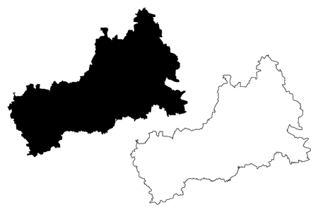 Cherkasy Oblast (Administrative divisions of Ukraine, Oblasts of Ukraine) map vector illustration, scribble sketch Cherkasy map