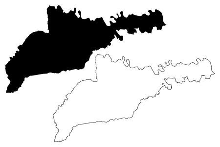 Chernivtsi Oblast (Administrative divisions of Ukraine, Oblasts of Ukraine) map vector illustration, scribble sketch Chernivtsi map