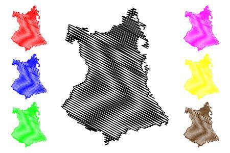 Phu Yen Province (Socialist Republic of Vietnam, Subdivisions of Vietnam) map vector illustration, scribble sketch Tinh Phu Yen map