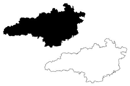 Kirovohrad Oblast (Administrative divisions of Ukraine, Oblasts of Ukraine) map vector illustration, scribble sketch Kirovohradschyna (Kropyvnytskyi Oblast) map Ilustração