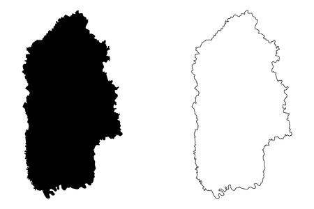 Khmelnytskyi Oblast (Administrative divisions of Ukraine, Oblasts of Ukraine) map vector illustration, scribble sketch Khmelnychchyna map