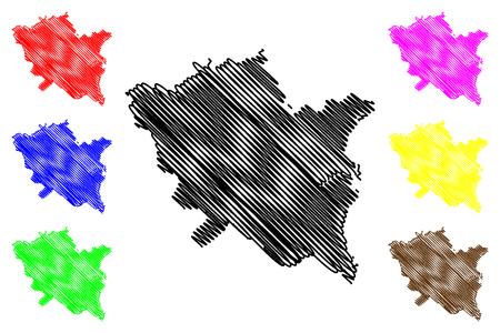 Thai Binh Province (Socialist Republic of Vietnam, Subdivisions of Vietnam) map vector illustration, scribble sketch Tinh Thai Binh map