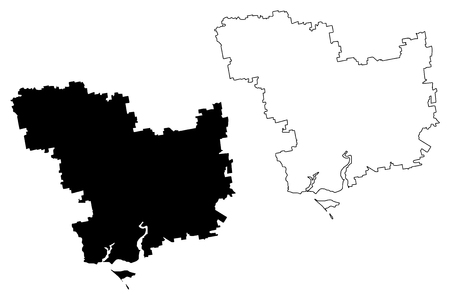 Mykolaiv Oblast (Administrative divisions of Ukraine, Oblasts of Ukraine) map vector illustration, scribble sketch Mykolaivshchyna ( Nikolaev or Nikolayev Oblast) map