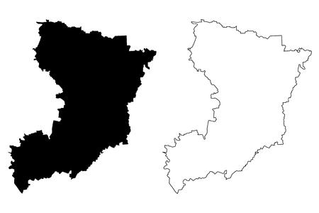 Rivne Oblast (Administrative divisions of Ukraine, Oblasts of Ukraine) map vector illustration, scribble sketch Rovno Oblast (Rivnenshchyna) map