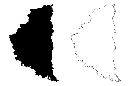 Ternopil Oblast (Administrative divisions of Ukraine, Oblasts of Ukraine) map vector illustration, scribble sketch Ternopilshchyna map