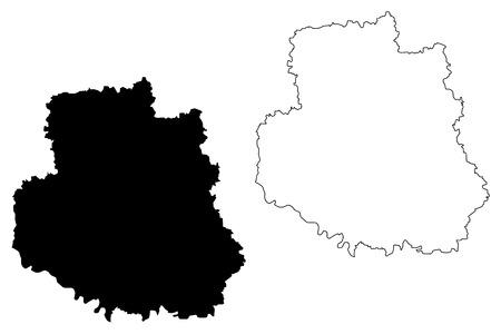 Vinnytsia Oblast (Administrative divisions of Ukraine, Oblasts of Ukraine) map vector illustration, scribble sketch Vinnychchyna map