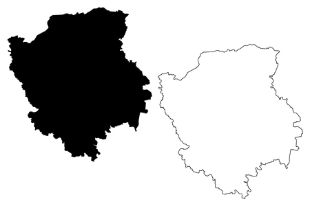 Volyn Oblast (Administrative divisions of Ukraine, Oblasts of Ukraine) map vector illustration, scribble sketch Volyn (Volyn' or Wołyń) map Stock Illustratie