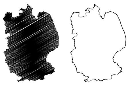 Lincolnshire (United Kingdom, England, Non-metropolitan county, shire county) map vector illustration, scribble sketch Lincs. map