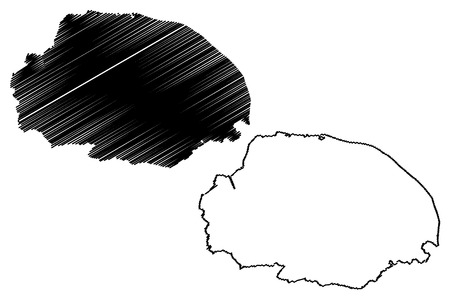 Norfolk (United Kingdom, England, Non-metropolitan county, shire county) map vector illustration, scribble sketch Norfolk map