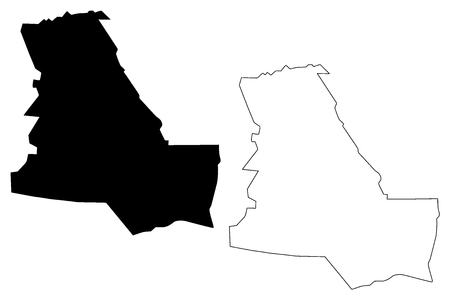 Dhi Qar Governorate (Republic of Iraq, Governorates of Iraq) map vector illustration, scribble sketch Dhi Qar Province map