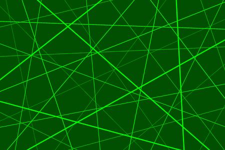 Random chaotic lines abstract geometric pattern, Green geometric pattern Vector Illustration