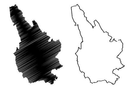 Caerphilly (United Kingdom, Wales, Cymru, Principal areas of Wales) map vector illustration, scribble sketch Caerphilly County Borough map Иллюстрация
