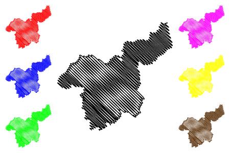 Saraburi Province (Kingdom of Thailand, Siam, Provinces of Thailand) map vector illustration, scribble sketch Saraburi map