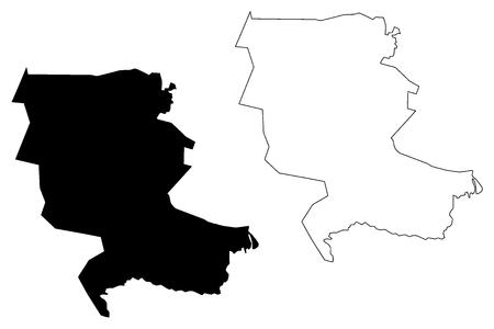 Jizzakh Region (Republic of Uzbekistan, Regions of Uzbekistan) map vector illustration, scribble sketch Jizzax viloyati map