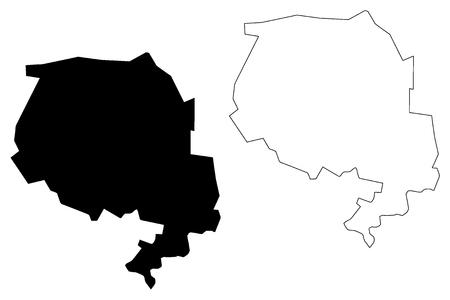 Navoiy-Region (Republik Usbekistan, Regionen Usbekistans) Kartenvektorillustration, kritzeln Sie Skizze Navoiy-Karte
