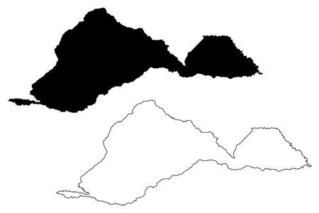 Barinas State (Bolivarian Republic of Venezuela, States, Federal Dependencies and Capital District) map vector illustration, scribble sketch Barinas map 写真素材 - 124285507
