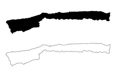 Vargas State (Bolivarian Republic of Venezuela, States, Federal Dependencies and Capital District) map vector illustration, scribble sketch Vargas map 写真素材 - 119781378