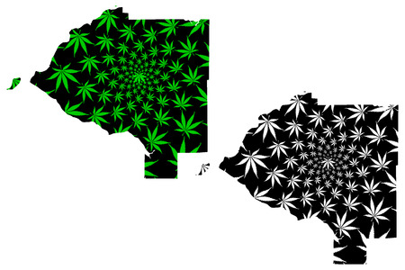 Anchorage city (United States of America, USA, U.S., US, United States cities, usa city)- map is designed cannabis leaf green, City of Anchorage map made of marijuana (marihuana,THC) foliage,