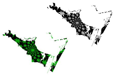 Corpus Christi city (United States of America, USA, U.S., US, United States cities, usa city)- map is designed cannabis leaf green, City of Corpus Christi map made of marijuana (marihuana,THC) foliage,