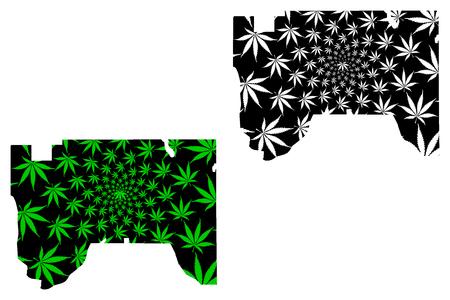 Saint Paul city (United States of America, USA, U.S., US, United States cities, usa city)- map is designed cannabis leaf green, City of Saint Paul map made of marijuana (marihuana,THC) foliage,