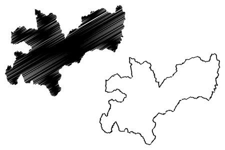 Caldas Department (Colombia, Republic of Colombia, Departments of Colombia) map vector illustration, scribble sketch Department of Caldas map Foto de archivo - 123995395