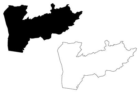 Farah Province (Islamic Republic of Afghanistan, Provinces of Afghanistan) map vector illustration, scribble sketch Farah map Imagens - 123951232