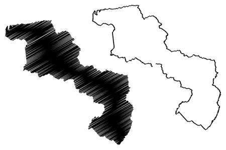Aragua State (Bolivarian Republic of Venezuela, States, Federal Dependencies and Capital District) map vector illustration, scribble sketch Aragua map 写真素材 - 123885713