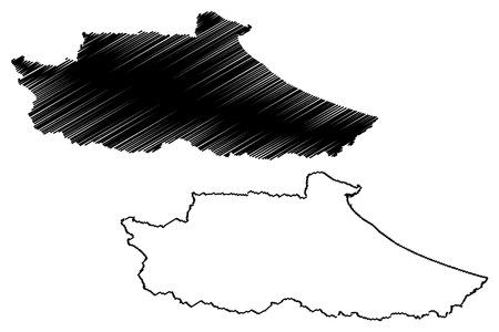 Miranda State (Bolivarian Republic of Venezuela, States, Federal Dependencies and Capital District) map vector illustration, scribble sketch Miranda map 写真素材 - 123745332