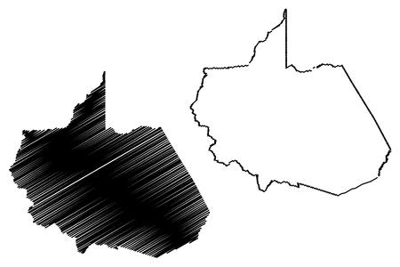 Department of Madre de Dios (Republic of Peru, Regions of Peru) map vector illustration, scribble sketch Madre de Dios map Illustration
