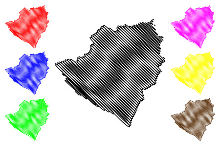 Kirkuk Governorate (Republic of Iraq, Governorates of Iraq) map vector illustration, scribble sketch At-Ta mim Province map