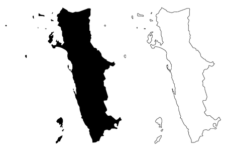 Al Hudaydah Governorate (Governorates of Yemen, Republic of Yemen) map vector illustration, scribble sketch Western Coast map