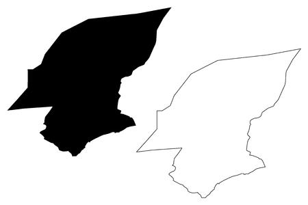 Hadhramaut Governorate (Governorates of Yemen, Republic of Yemen) map vector illustration, scribble sketch Hadramawt map