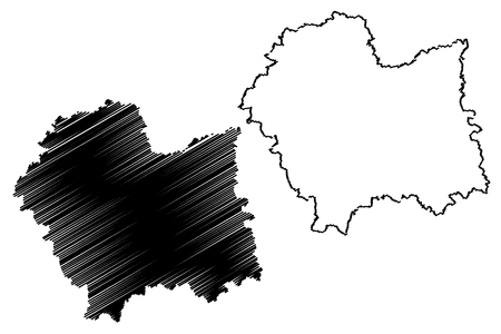 Lesser Poland Voivodeship (Administrative divisions of Poland, Voivodeships of Poland) map vector illustration, scribble sketch Lesser Poland Province map