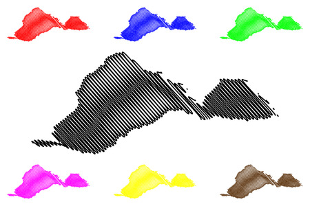 Barinas State (Bolivarian Republic of Venezuela, States, Federal Dependencies and Capital District) map vector illustration, scribble sketch Barinas map 写真素材 - 122954449
