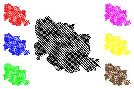 Carabobo State (Bolivarian Republic of Venezuela, States, Federal Dependencies and Capital District) map vector illustration, scribble sketch Carabobo map 写真素材 - 122954452