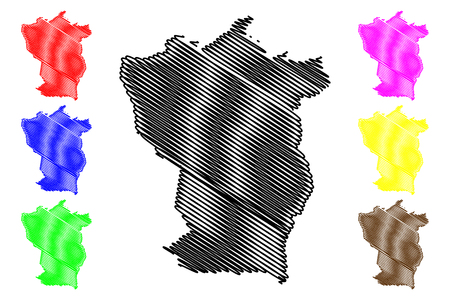 Cojedes State (Bolivarian Republic of Venezuela, States, Federal Dependencies and Capital District) map vector illustration, scribble sketch Cojedes map 写真素材 - 122954453
