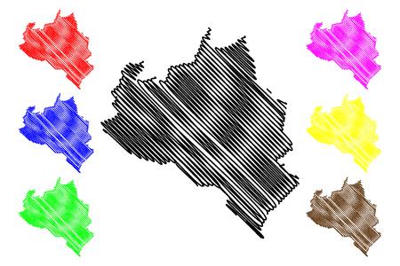 Portuguesa State (Bolivarian Republic of Venezuela, States, Federal Dependencies and Capital District) map vector illustration, scribble sketch Portuguesa map 写真素材 - 122954459