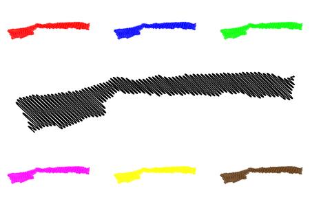 Vargas State (Bolivarian Republic of Venezuela, States, Federal Dependencies and Capital District) map vector illustration, scribble sketch Vargas map 写真素材 - 121465904